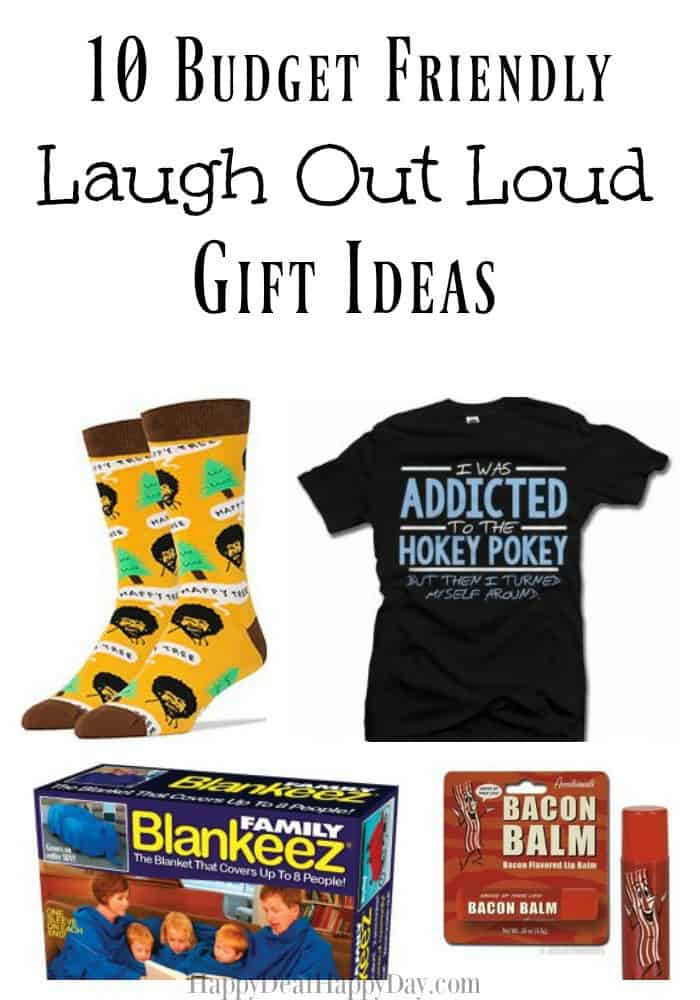 10 Budget Friendly Laugh Out Loud Gift Ideas - these are funny, family friendly, and perfect for a white elephant gift exchange! They won't break the bank either!
