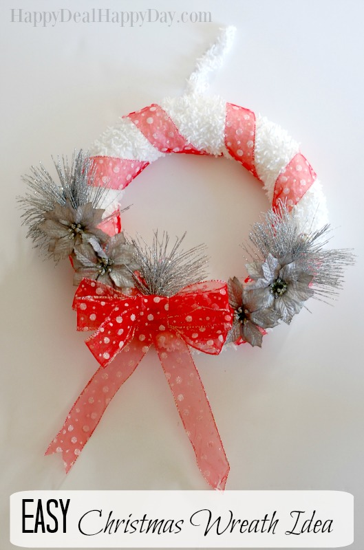christmas wreath with text