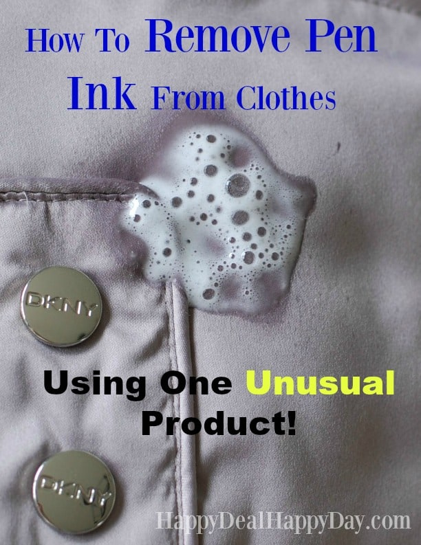 How to remove pen ink from clothes using one unusual product! #lifehack #cleaning #cleaningtips