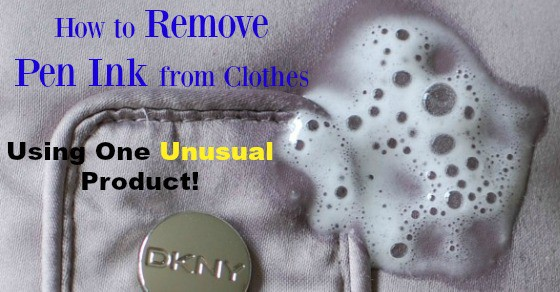 How to Remove Pen Ink From Clothes – Using One Unusual Product!