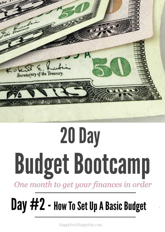 20 Day Budget Challenge: Day #2 How To Set Up a Basic Budget. It's a new year - time to get your finances in order with this 20 day budget challenge!