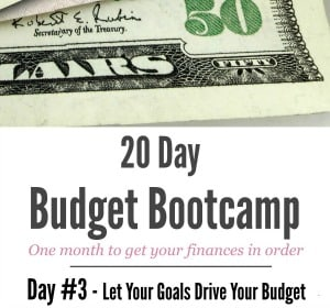 20 Day Budget Challenge:  Day #3 How To Easily Create Long Term Budget Goals