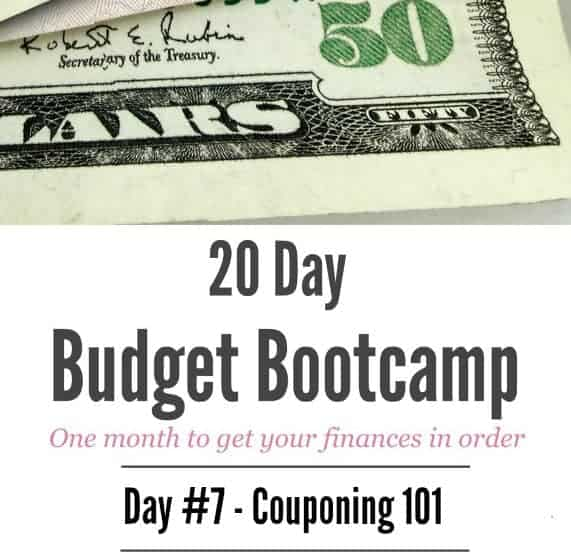 20 Day Budget Challenge:  Day #7 Couponing 101
