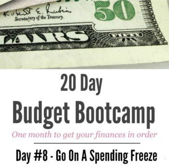 20 Day Budget Challenge:  Day #8 Go On A Spending Freeze