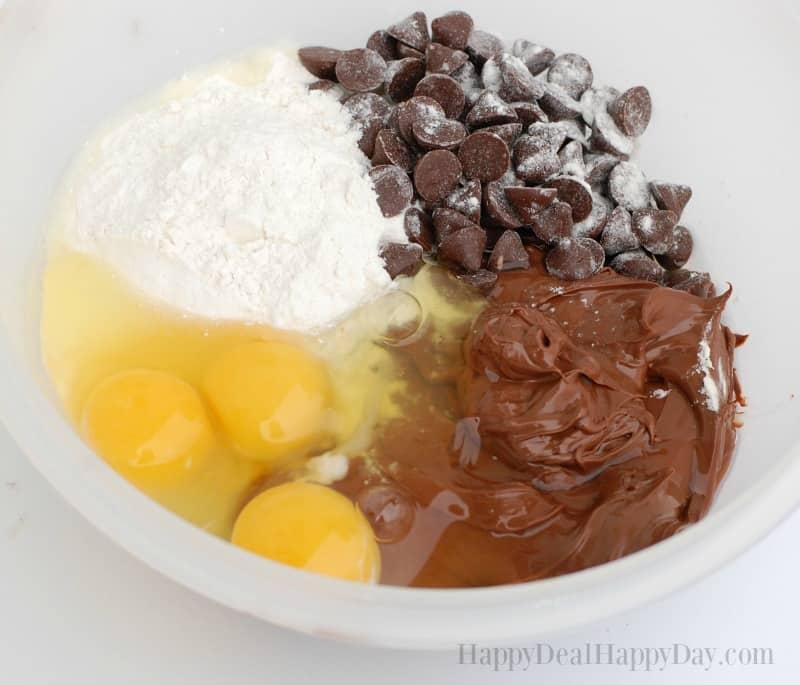 4 ingredient nutella brownies