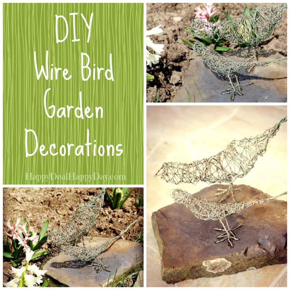 DIY Wire Bird garden decorations