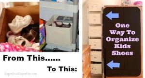 organize kids shoes horizontal