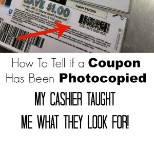 How To Tell if a Coupon has Been Photocopied – My Cashier Taught Me What They Look For!