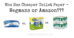 toilet paper wegmans vs. amazon