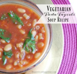 vegetarian pasta fagoli soup recipe
