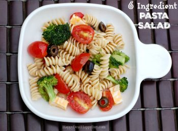 6 Ingredient QUICK & EASY Pasta Salad Recipe – Great For Potlucks!