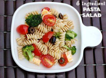 6 Ingredient QUICK & EASY Pasta Salad Recipe – Great For Potlucks!