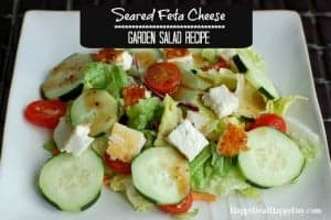 Healthy Pan Seared Feta Cheese Salad Recipe