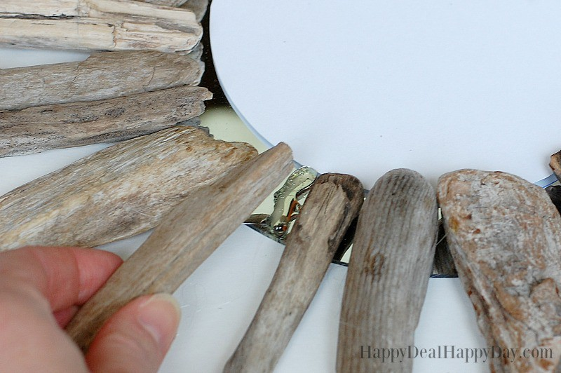 DIY Drift Wood Mirrors - There are some great pics on this post of a DIY drift wood mirror tutorial!