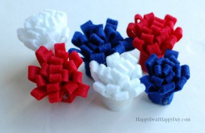 felt flowers for patriotic wreath