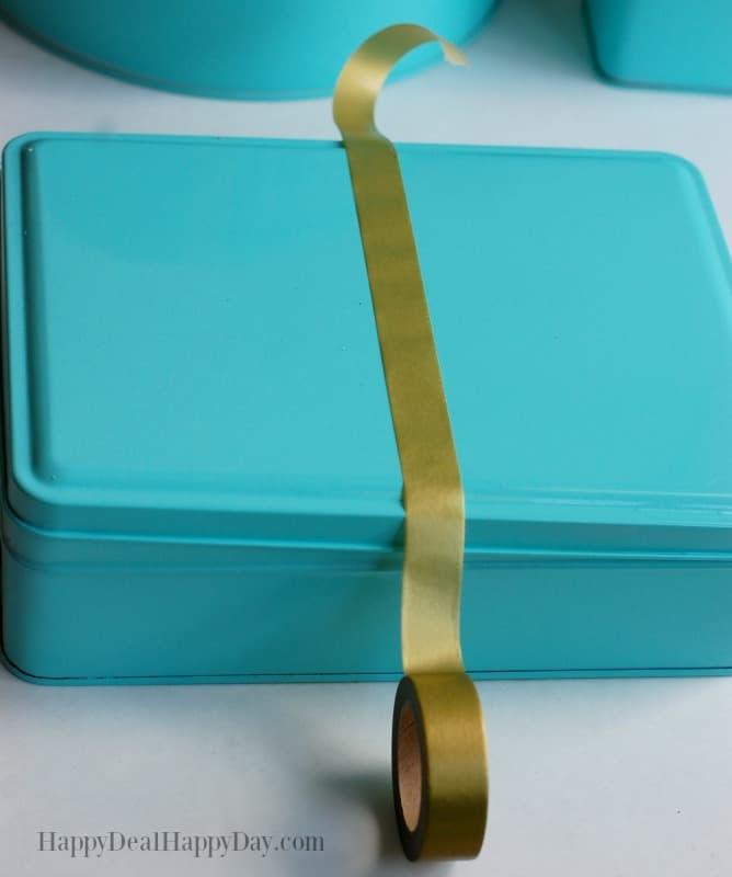 Got ugly and out-dated cookie tins at home? Try this to give them new life!!