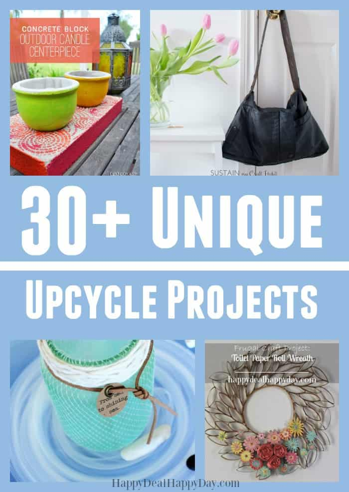 30+ unique DIY upcycle projects - learn how to upcycle toilet paper rolls, sea glass, cookie tins and more! #DIYUpcycle #upcycle #uniqueupcycle #uniquediyupcycle #upcycletoiletpaper #upcycleseaglass #upcyclecerealbox #upcyclecookietins #easyupcycleprojects