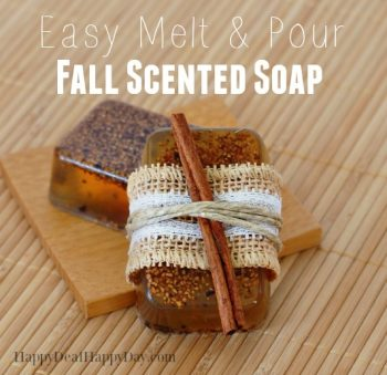 Easy Melt & Pour Soap Recipes:  Fall Scented Soap with Free Printable Soap Labels