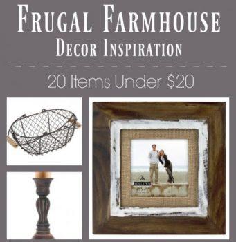 Farmhouse Decor Ideas on a Budget – 20 Items for Under $20!