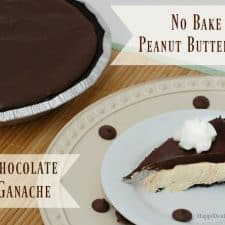 No Bake Peanut Butter Pie with Chocolate Ganache