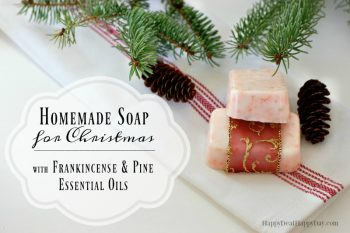 Easy Melt and Pour Soap Recipes for Christmas with Pine & Frankincense Essential Oils