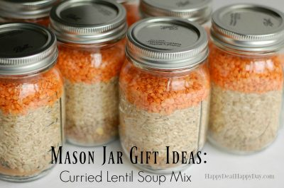 Mason Jar Gift Ideas:  Curried Lentil Soup Mix With Free Printable Recipe Card