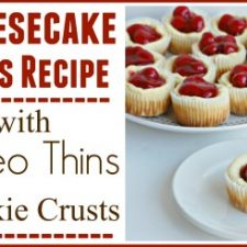 Cheesecake Cups Recipe with Oreo Thin Cookies Crust