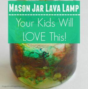 4 Ingredient Mason Jar DIY Lava Lamp – Your Kids Will LOVE This!