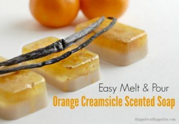 Melt & Pour Easy Soap Recipe:  Orange Creamsicle Soap