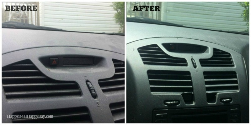 clean car hack - before and after
