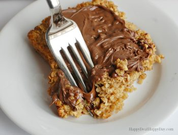 Quick Oats Baked Oatmeal with Nutella Frosting Recipe
