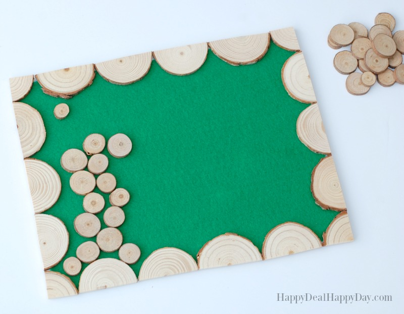 Wood Slice Craft Ideas making a placemat