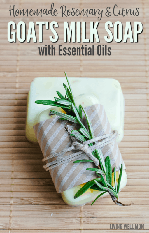 Homemade Rosemary & Citrus Goat's Milk Soap with Essential Oils