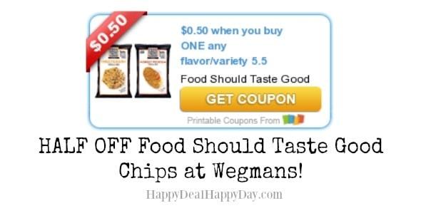 Food Should Taste Good Tortilla Chips Half Off at Wegmans!