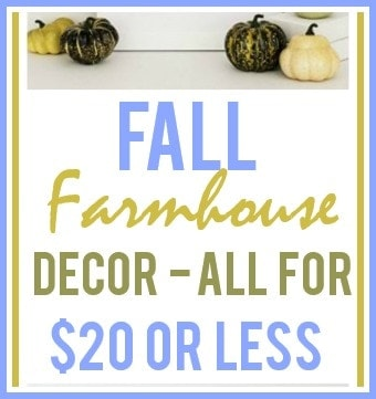 Fall Farmhouse Decor Ideas Under $20