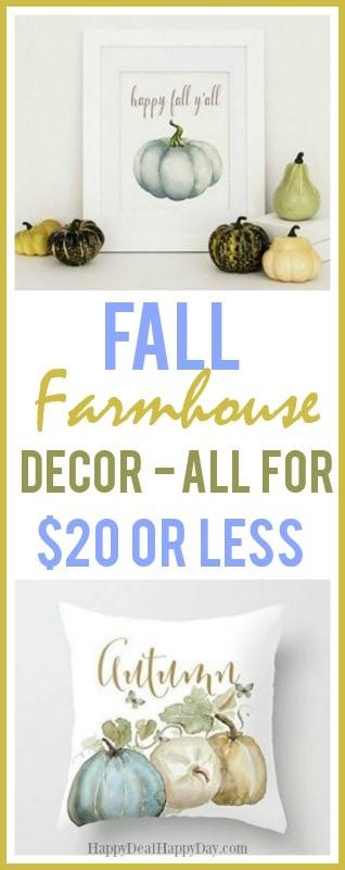 Thanksgiving Farmhouse Decor for under $20 - #farmhouse #thanksgivingfarmhouse #frugalfarmhouse