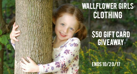 Wallflower Girls Clothing $50 Gift Card Giveaway – Ends 10/20/17