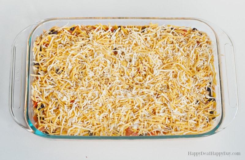 Mexican Rice & Beans Vegetarian Casserole
