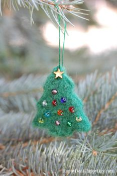 Needle Felted DIY Essential Oil Diffuser Ornament