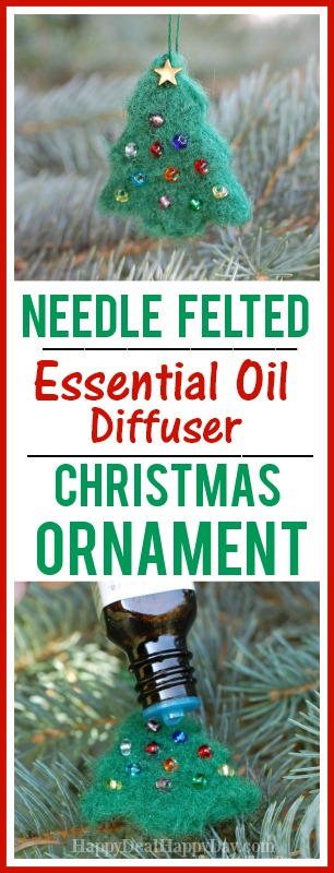 DIY essential oil diffuser ornament