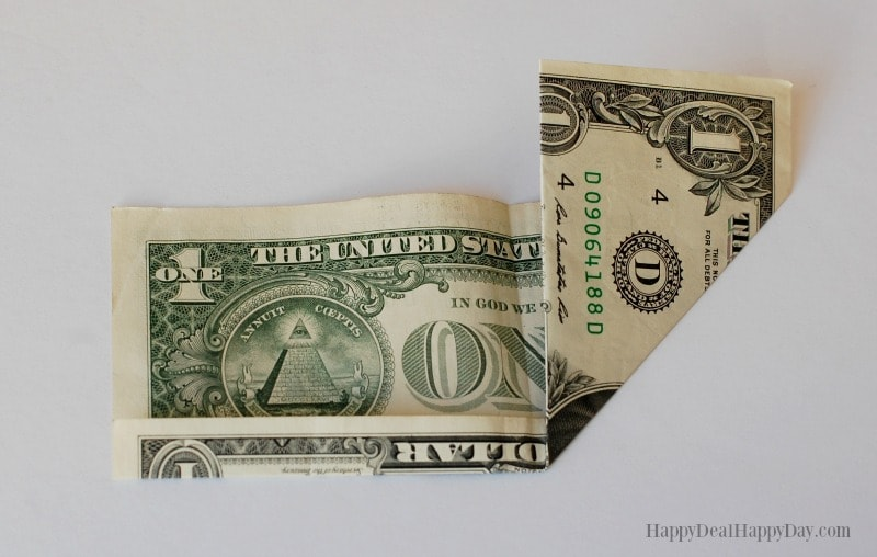 Heart Shaped Dollar Origami