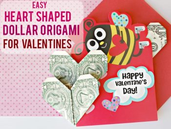 How To Make Heart Shaped Dollar Origami For Valentine's Day
