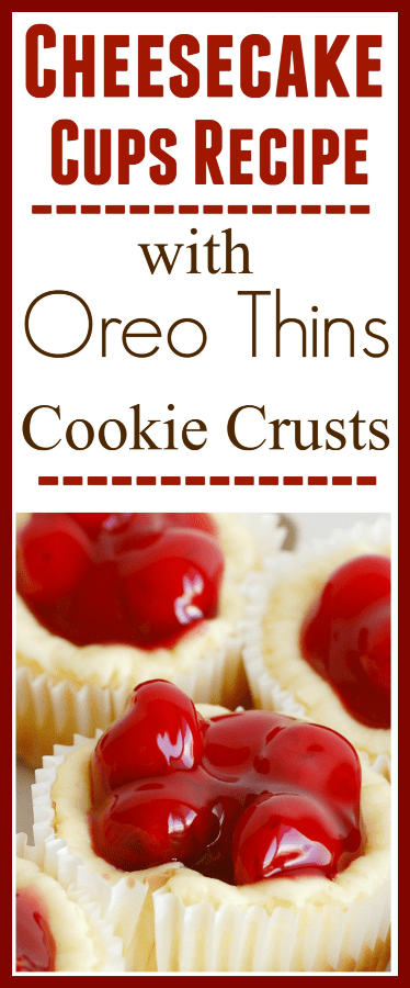 Cheesecake Cups Recipe with Oreo Thins Cookie Crusts Recipe