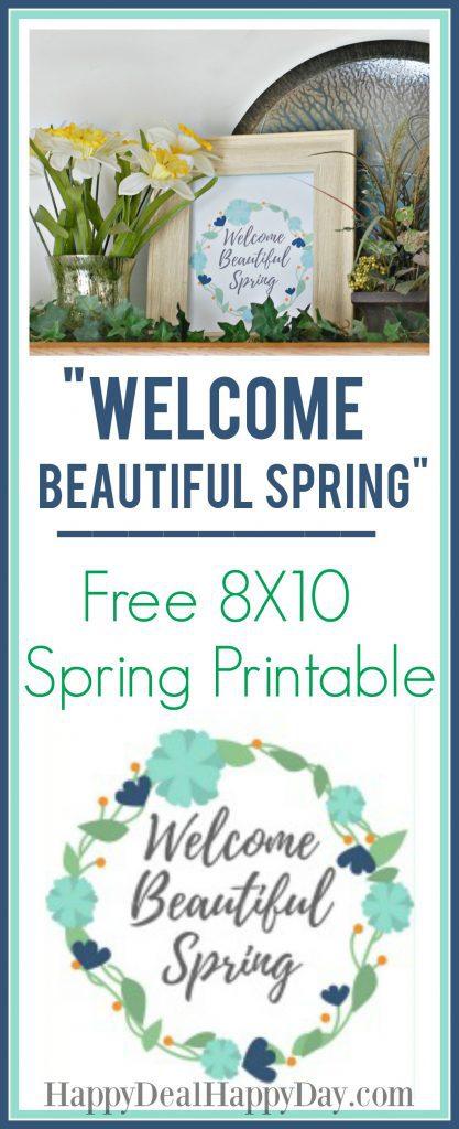 Free 8X10 Spring Printable