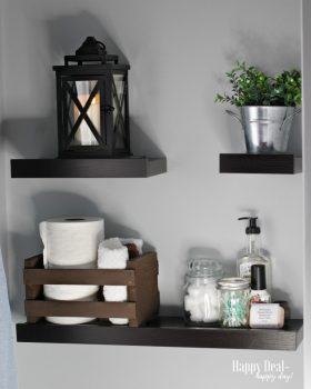 Budget Decor:  Bathroom Floating Shelves Above The Toilet Decor Idea