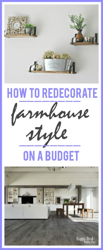 farmhouse decor on a budget