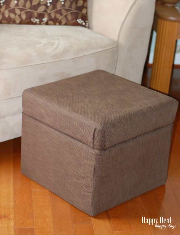 Reupholster an Ottoman Tutorial - after photo