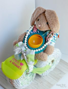 Diaper Tricycle DIY Tutorial for a Baby Shower Gift