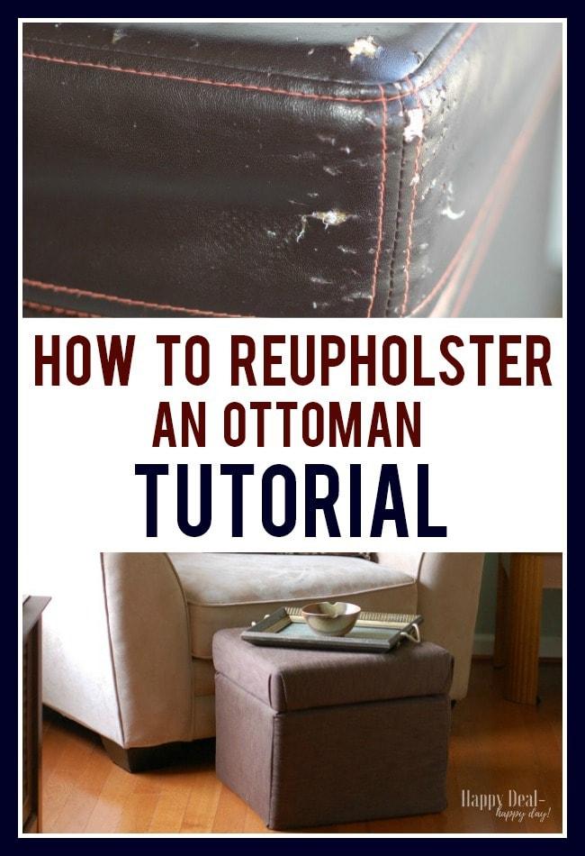 Reupholster an Ottoman Tutorial