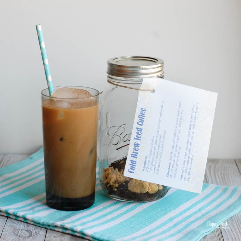 how to make simple cold brew iced coffee with printable recipe card